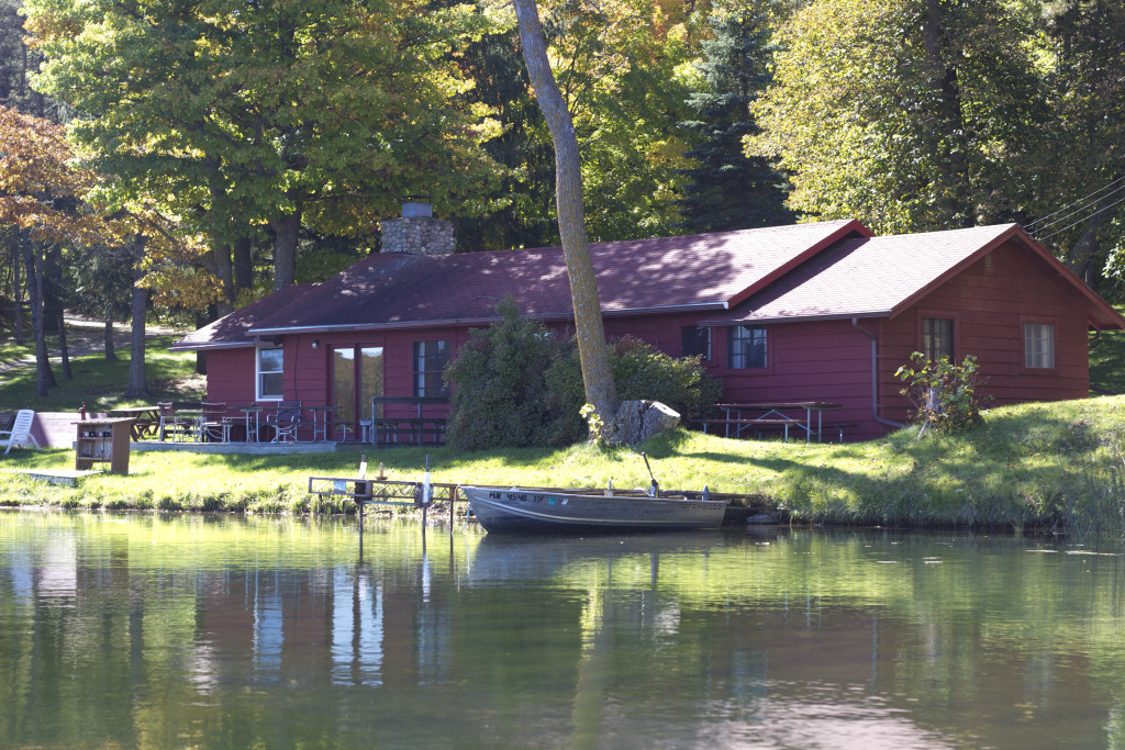 Cabin 3 exterior from Lake Five
