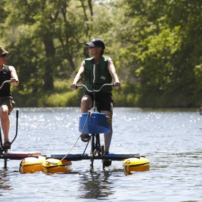 Hydrobikes on Lake Five